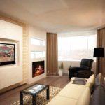 идея яркого дизайна гостиной комнаты 17 кв.м картинка