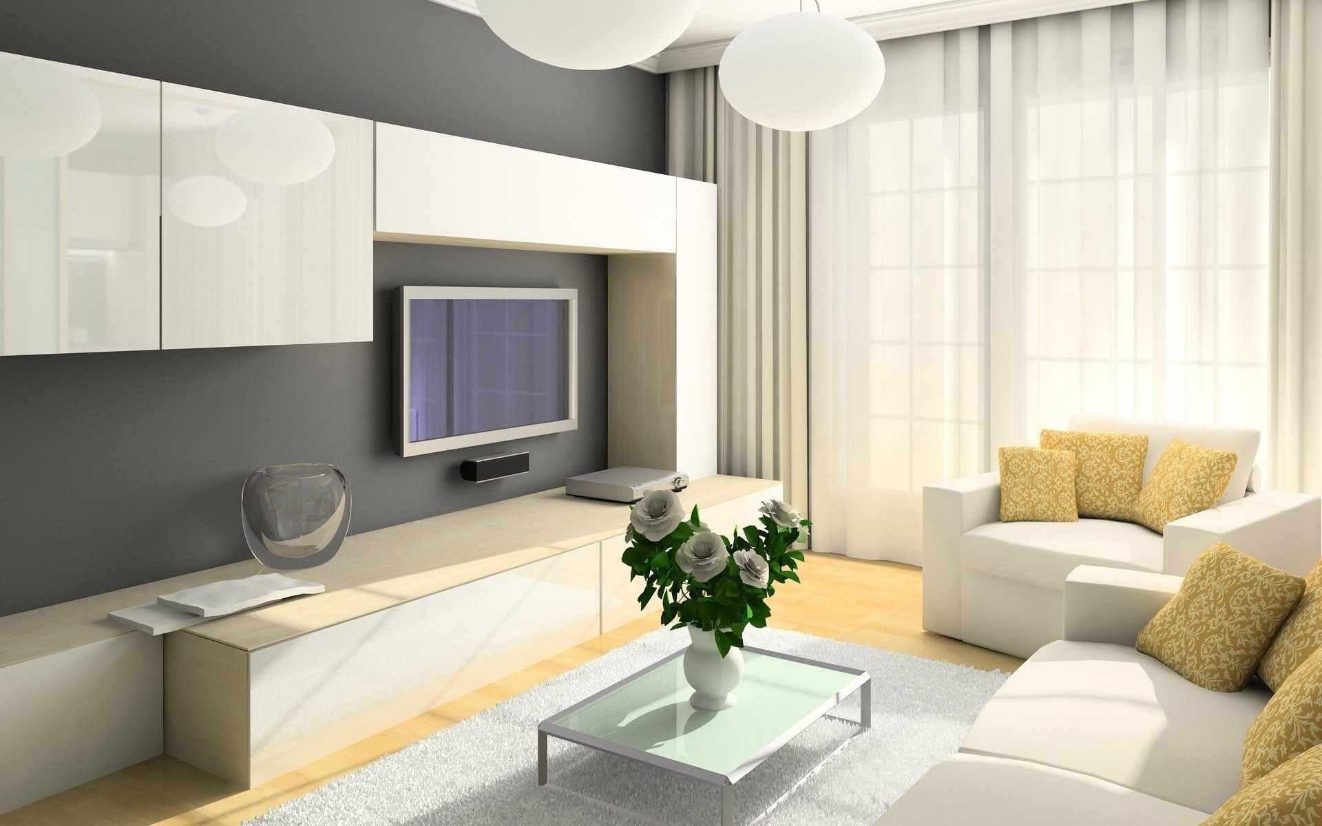 вариант красивого декора гостиной комнаты 16 кв.м