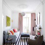 вариант красивого дизайна гостиной комнаты 2018 картинка