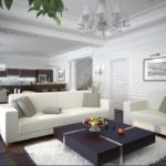 пример светлого стиля гостиной комнаты 25 кв.м картинка