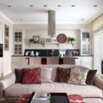 пример красивого декора гостиной комнаты 16 кв.м картинка