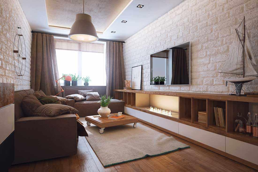идея яркого стиля гостиной комнаты 16 кв.м
