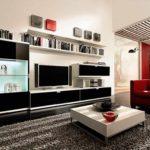 вариант применения светлого декора гостиной комнаты в стиле минимализм фото