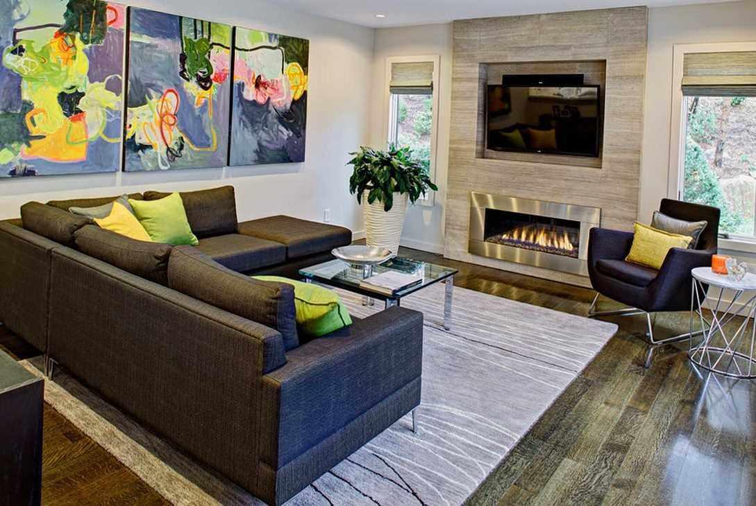 идея красивого дизайна гостиной комнаты 19-20 кв.м