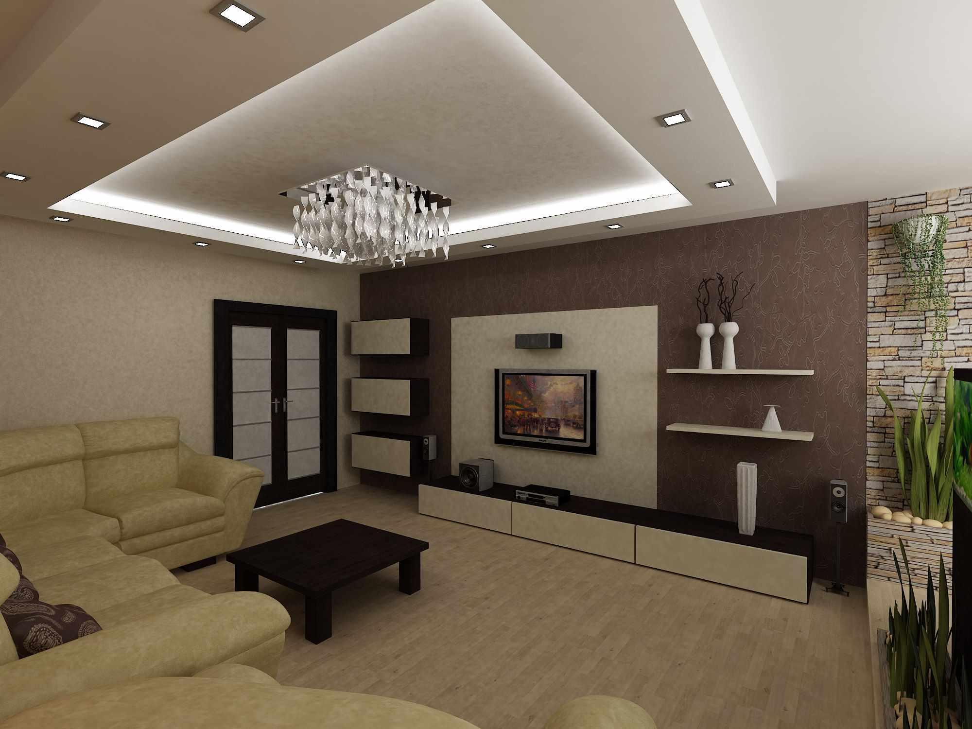 идея красивого интерьера гостиной комнаты 25 кв.м