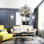 идея красивого декора гостиной комнаты 2018 картинка