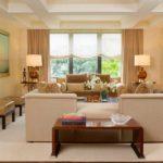 пример необычного интерьера гостиной комнаты 2018 фото