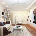 идея светлого интерьера гостиной комнаты 19-20 кв.м фото
