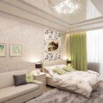 пример красивого декора гостиной комнаты 19-20 кв.м картинка