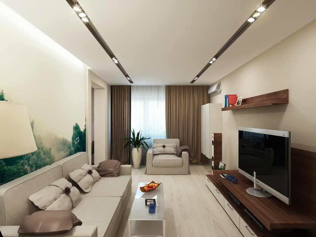 вариант применения яркого дизайна гостиной комнаты в стиле минимализм