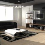 вариант использования светлого дизайна гостиной комнаты в стиле минимализм картинка