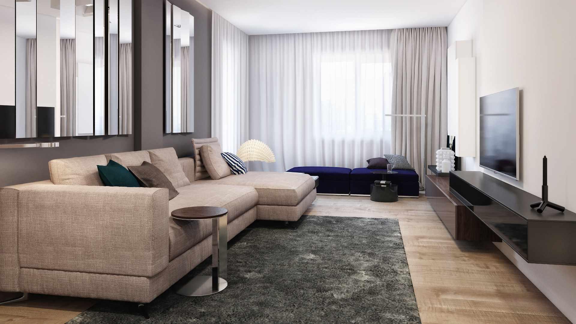 пример использования светлого интерьера гостиной комнаты в стиле минимализм