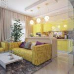 пример светлого стиля гостиной комнаты 2018 фото