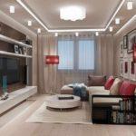 пример яркого интерьера гостиной комнаты 25 кв.м фото