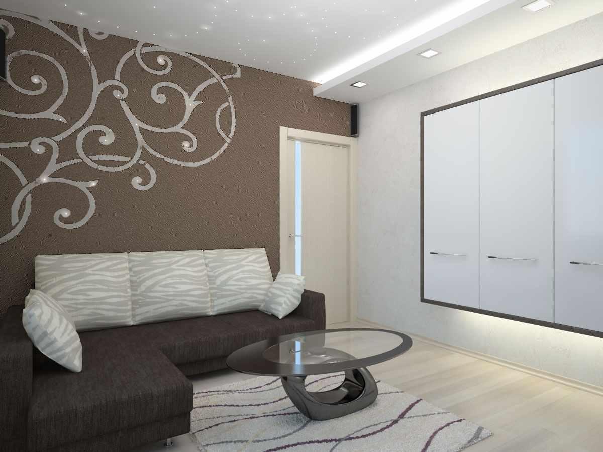 идея светлого интерьера гостиной комнаты 16 кв.м