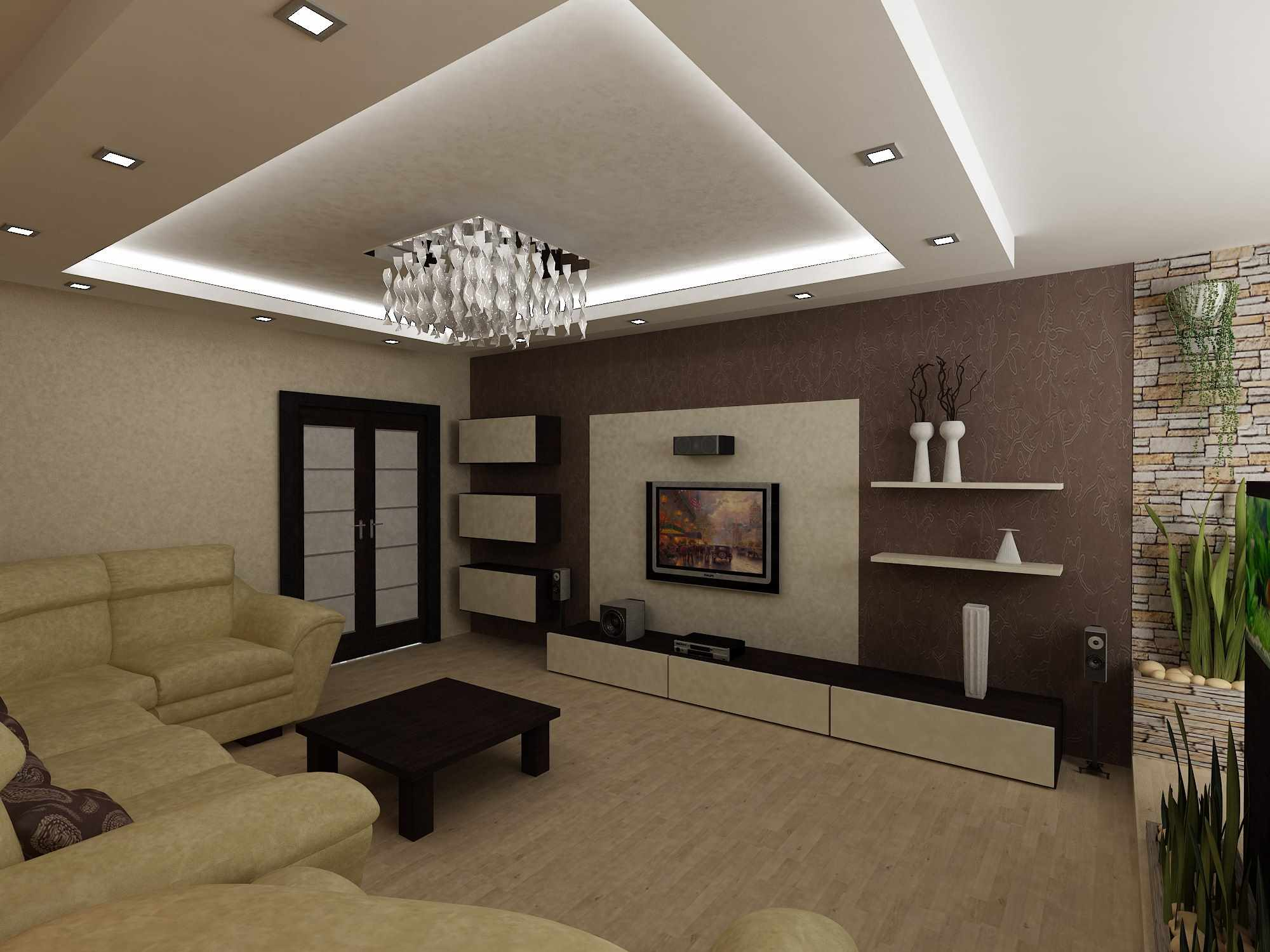 вариант яркого стиля гостиной комнаты 16 кв.м