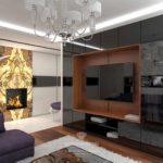 идея красивого декора гостиной комнаты 17 кв.м фото