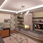 идея применения светлого декора гостиной комнаты с камином фото