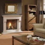 пример применения яркого стиля гостиной комнаты с камином фото
