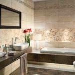 вариант красивого стиля ванной комнаты с облицовкой плиткой картинка