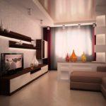 идея красивого декора гостиной комнаты 17 кв.м картинка