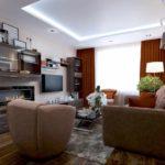 пример красивого дизайна гостиной комнаты 19-20 кв.м картинка