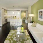 идея светлого стиля гостиной комнаты 2018 картинка