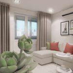 пример необычного стиля гостиной комнаты 19-20 кв.м фото