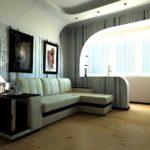 идея красивого интерьера гостиной комнаты 17 кв.м фото