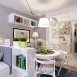 вариант яркого интерьера гостиной комнаты 25 кв.м картинка