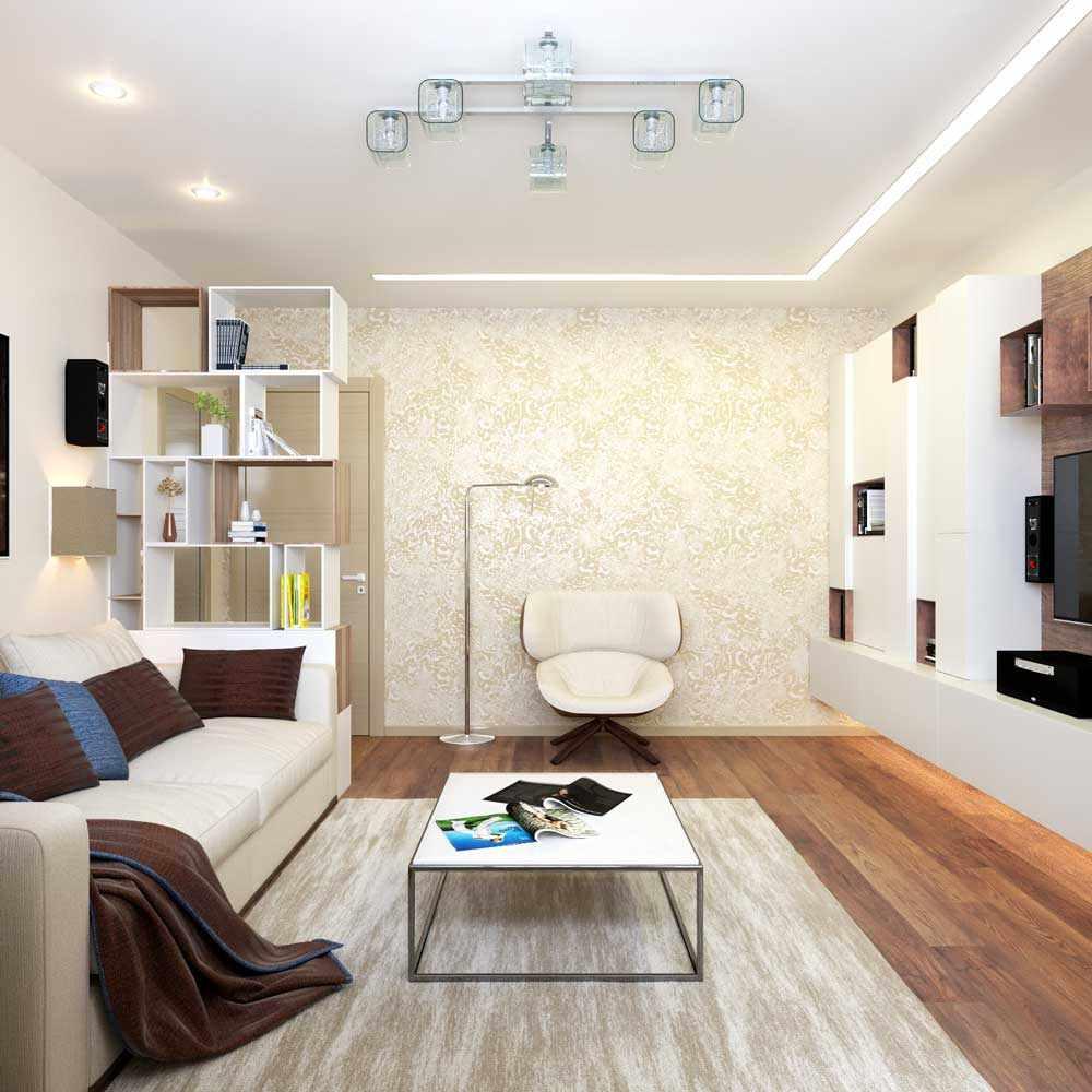 вариант красивого стиля гостиной комнаты 16 кв.м