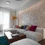 вариант необычного декора гостиной комнаты 17 кв.м фото