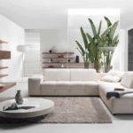пример применения необычного дизайна гостиной комнаты в стиле минимализм фото