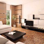 пример использования яркого дизайна гостиной комнаты в стиле минимализм фото