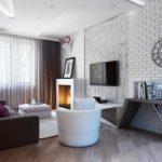 пример использования необычного дизайна гостиной комнаты в стиле минимализм фото