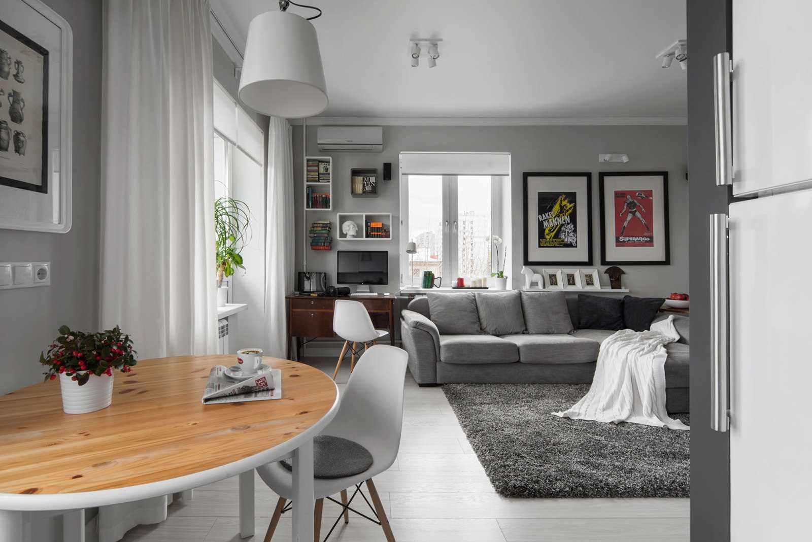 вариант необычного стиля гостиной комнаты 25 кв.м