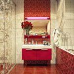 пример светлого дизайна ванной комнаты с облицовкой плиткой картинка