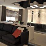 пример необычного интерьера гостиной комнаты 16 кв.м картинка
