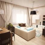 пример светлого стиля гостиной комнаты 19-20 кв.м фото