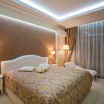 дизайн спальни освещение