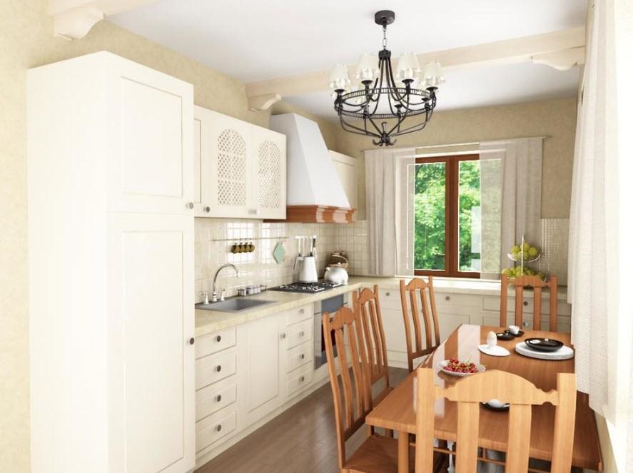 Интерьер кухни в стиле прованс в частном доме
