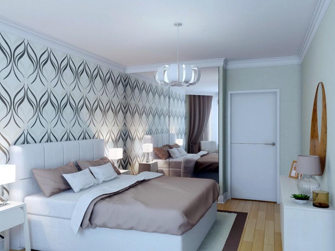 дизайн спальни 11 кв м со шкафом