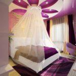 дизайн спальни кровать с балдахином