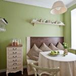 Декор подушками кухни в стиле прованс