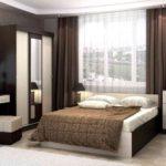 дизайн спальни с корпусной мебелью