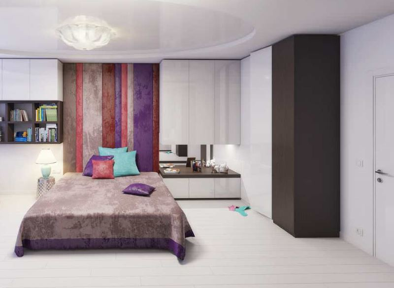Обустройство зоны для отдыха в комнате современной девушки