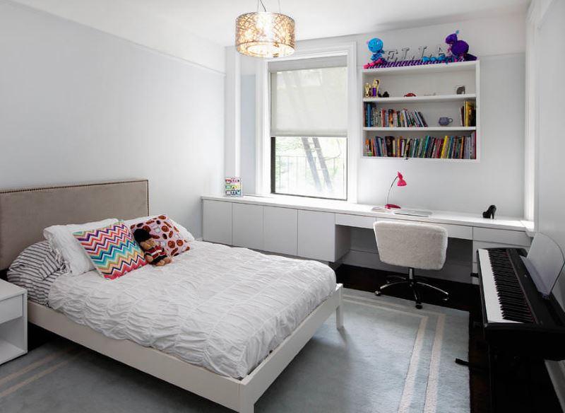 Оформление рабочего стола в спальной комнате