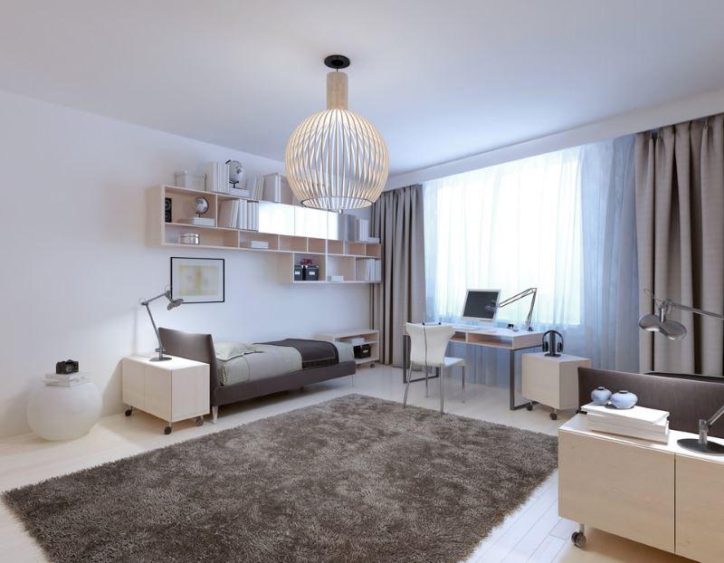 Лаконичный дизайн современной комнаты для девушки