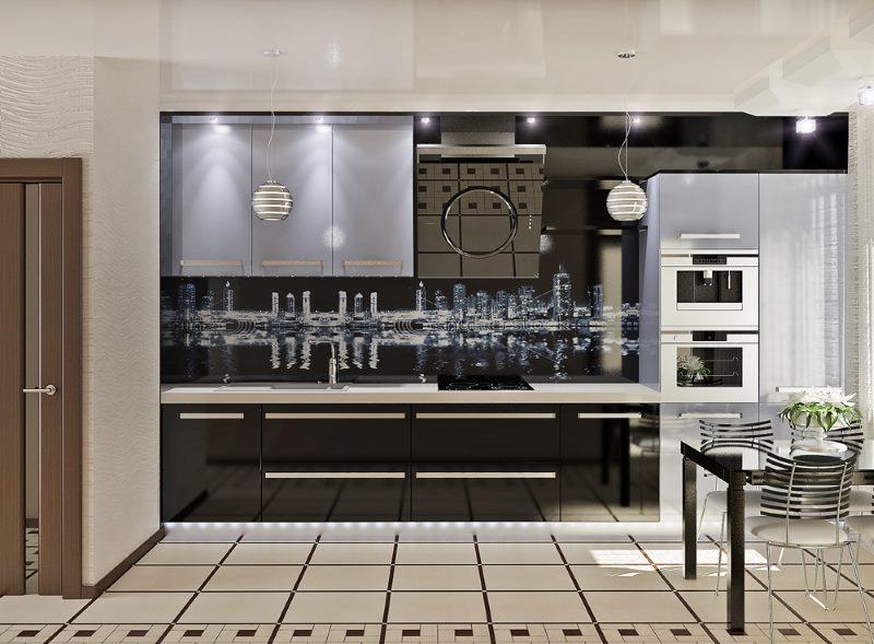 Черный цвет в дизайне кухни стиля модерн