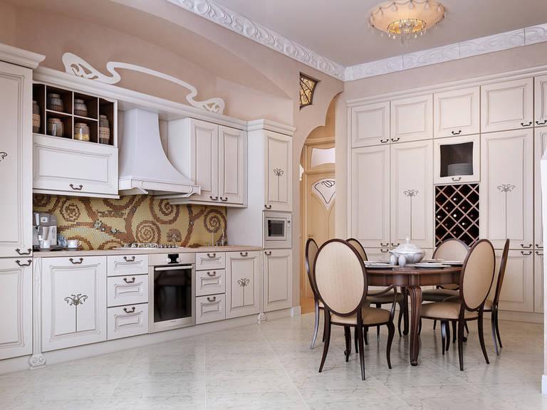 Стулья с овальной спинкой в интерьере кухни